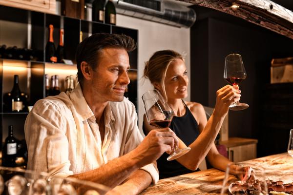 Hotel 4 Sterne, Wein, Verkostung