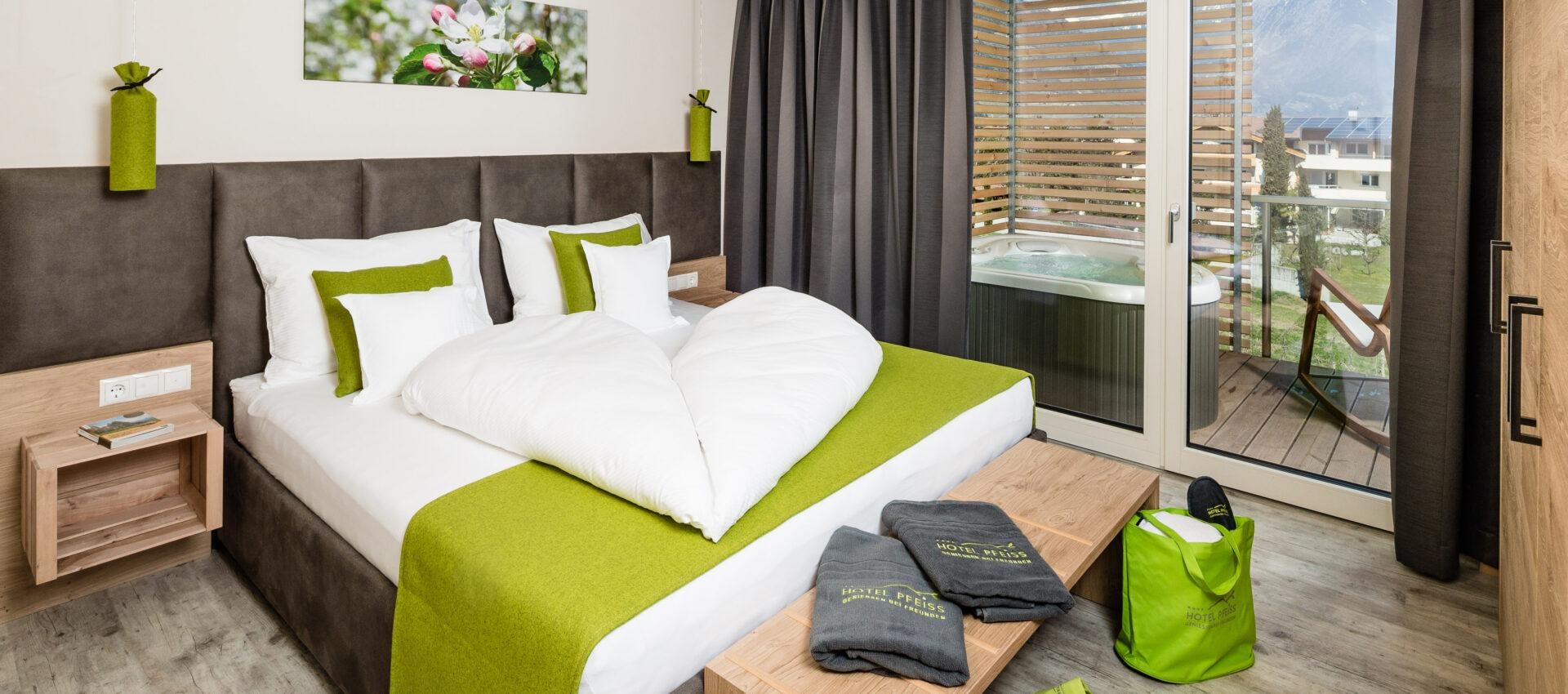 Zimmer Edelroat 4 Sterne Hotel in Lana Pfeiss - Meran - Südtirol